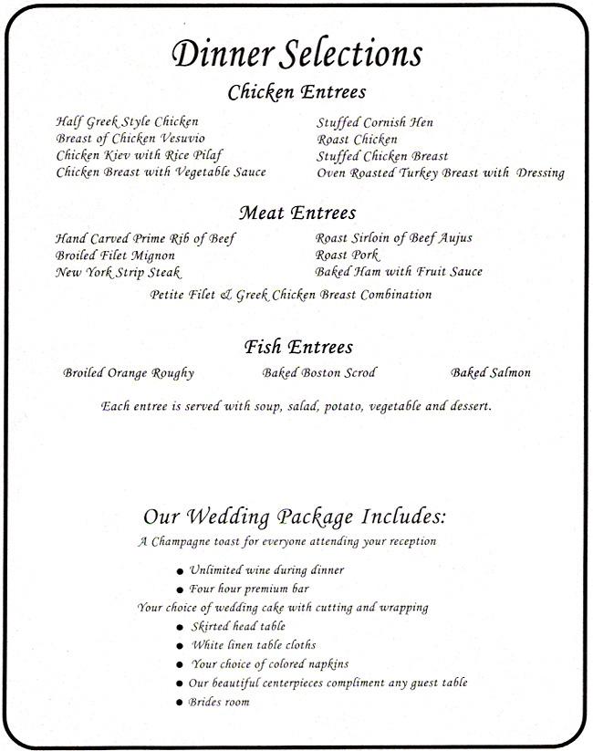 Menus Crystal Sky Banquets Weddings Events Banquets In
